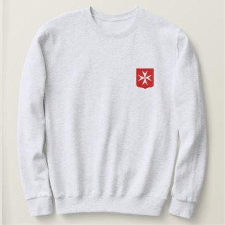 マルタの十字 刺繍入りスウェットシャツ