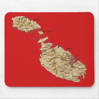 マルタの地図のマウスパッド マウスパッド