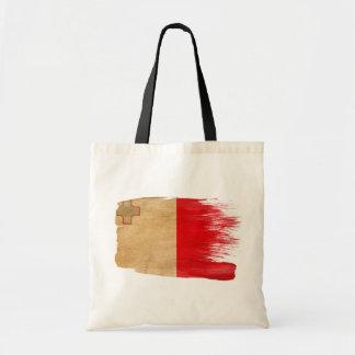 マルタの旗のキャンバスのバッグ トートバッグ