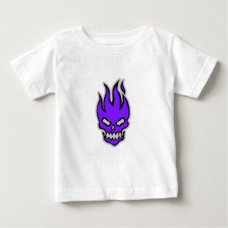 マルタの燃えるようなスカルのTシャツ ベビーTシャツ