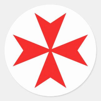 マルタのtemplar騎士赤十字の宗教の記号 ラウンドシール
