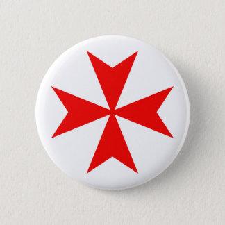マルタのtemplar騎士赤十字の宗教の記号 5.7cm 丸型バッジ