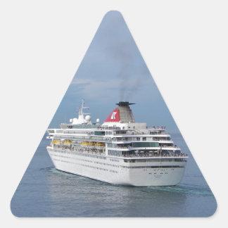 マルタを去る遊航船 三角形シール