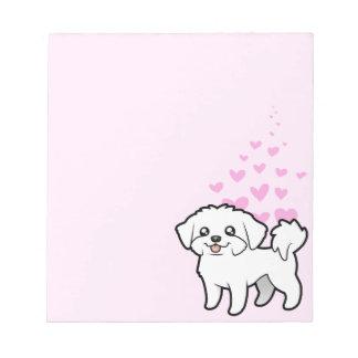 マルタ愛(切られる子犬) ノートパッド