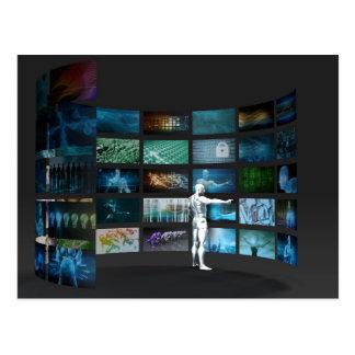 マルチチャネルを渡るビデオマーケティング ポストカード