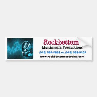 、マルチメディアの生産Rockbottom、マイクロフォン… バンパーステッカー