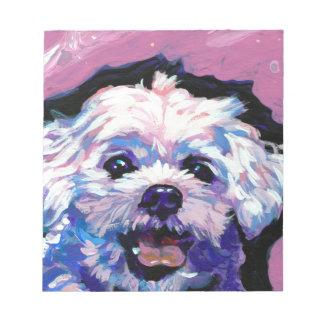 マルチーズポップ・アートのな犬の芸術 ノートパッド