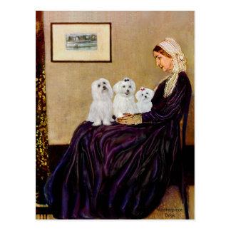 マルチーズ(3)の-ホイスラーの母 ポストカード