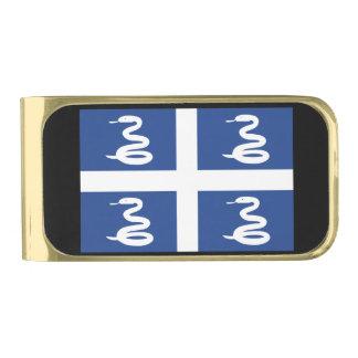 マルティニクの旗 ゴールド マネークリップ