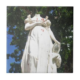 マルティニクの首をはねられた彫像 タイル