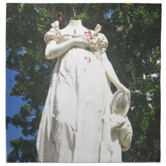 マルティニクの首をはねられた彫像 ナプキンクロス
