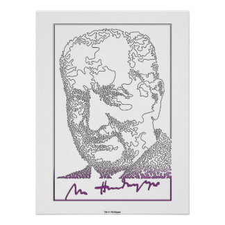 マルティン・ハイデッガー。 ドイツの哲学者[013] ポスター