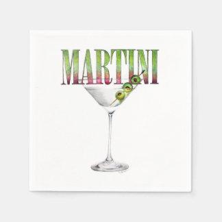 マルティーニのカクテルのナプキン スタンダードカクテルナプキン