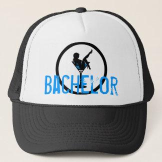 マルティーニのガラスシルエットの青いバチュラーパーティの帽子 キャップ