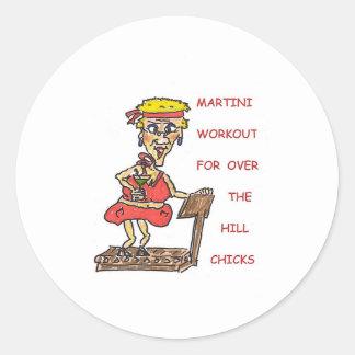 マルティーニのトレーニングのマウスパッド 丸形シール・ステッカー