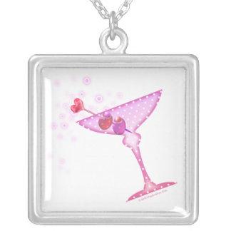 マルティーニのピンクのネックレス シルバープレートネックレス