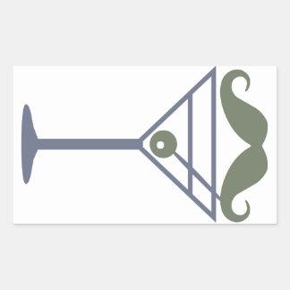 マルティーニの口ひげのカスタムのステッカー 長方形シール