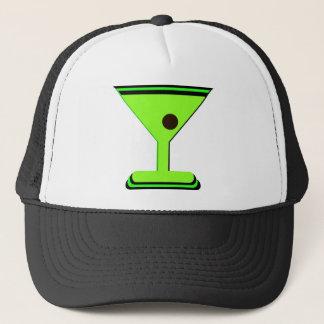 マルティーニの緑の写実的なプリント キャップ