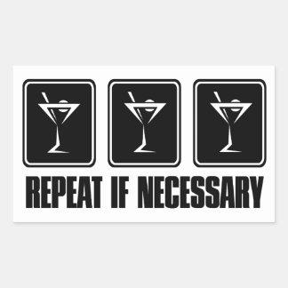 マルティーニの飲み物のシンボルや象徴-繰り返し必要ならば 長方形シール