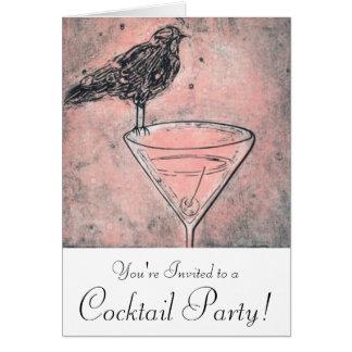 マルティーニの鳥のBathのカクテルパーティーの招待 カード
