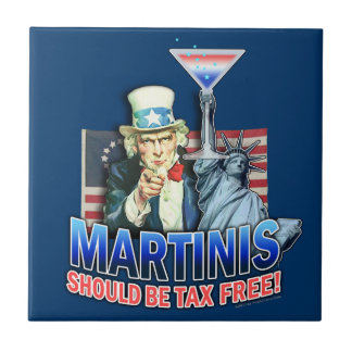 マルティーニは非課税のコースターのタイルべきです タイル