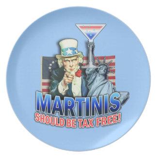 マルティーニは非課税のプレートべきです プレート