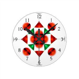 マルティーニガラスの雪片 ラウンド壁時計