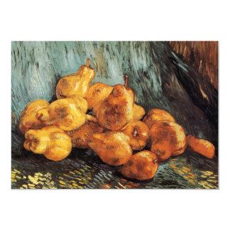 マルメロのナシが付いているゴッホの静物画、ヴィンテージの芸術 カード