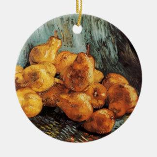 マルメロのナシが付いているゴッホの静物画、ヴィンテージの芸術 セラミックオーナメント