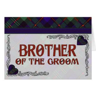 マレーのスコットランド人のタータンチェック カード