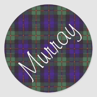 マレーのスコットランド人のタータンチェック ラウンドシール