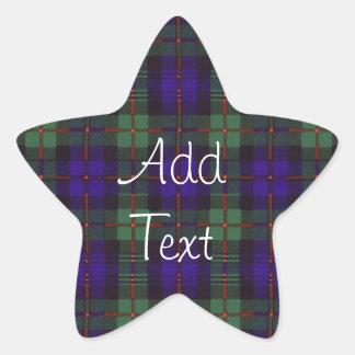 マレーのスコットランド人のタータンチェック 星シール