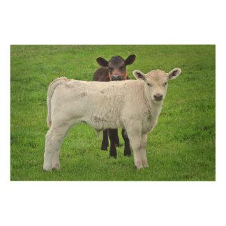 マレーの灰色の子牛(王の典型的な田園場面) ウッドウォールアート