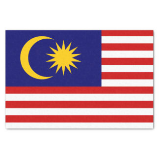 マレーシアのティッシュペーパーの旗 薄葉紙