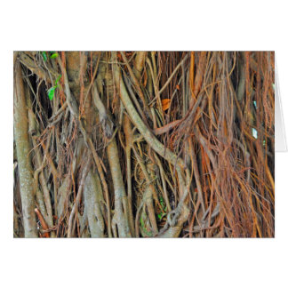 マレーシアのバンヤンノキの根 カード