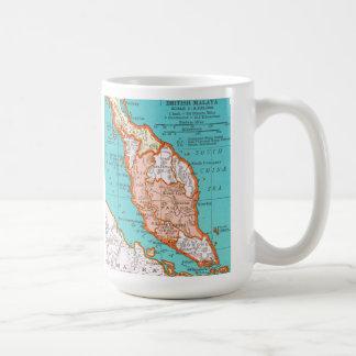 マレーシアのマグのヴィンテージの地図 コーヒーマグカップ