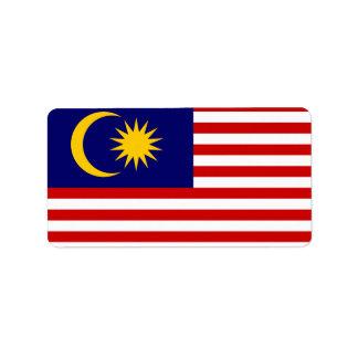 マレーシアのラベルの旗 ラベル