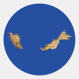 マレーシアの地図のステッカー ラウンドシール