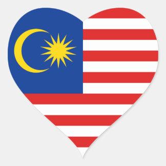 マレーシアの旗のハートのステッカー ハートシール
