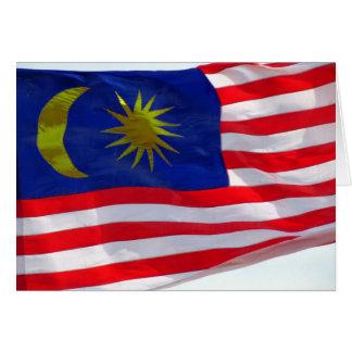 マレーシアの旗 カード