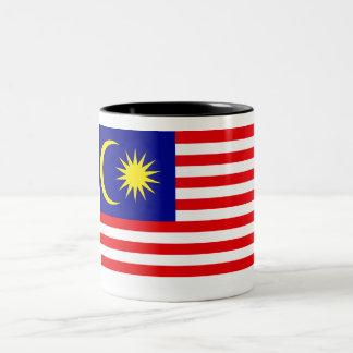 マレーシアの旗 ツートーンマグカップ