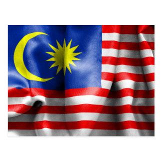 マレーシアの旗 ポストカード