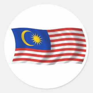 マレーシアの旗 ラウンドシール