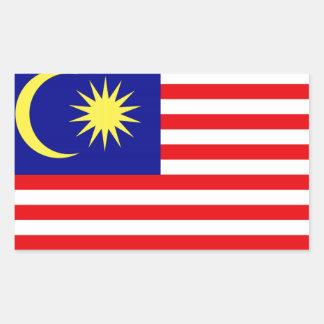 マレーシアの旗 長方形シール
