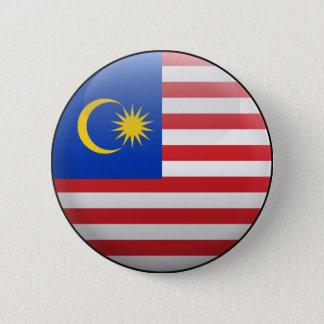マレーシアの旗 5.7CM 丸型バッジ