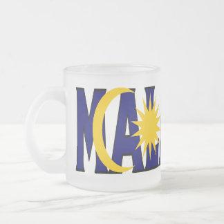 マレーシアはマグを曇らしました フロストグラスマグカップ