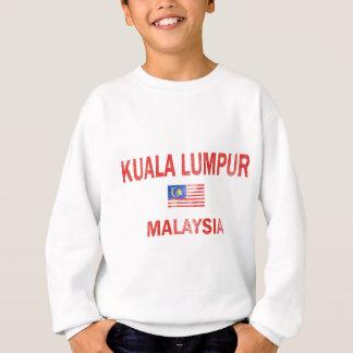 マレーシアクアラルンプールのデザインの旗 スウェットシャツ