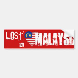 マレーシア-マレーシアの旗のハートで失った バンパーステッカー