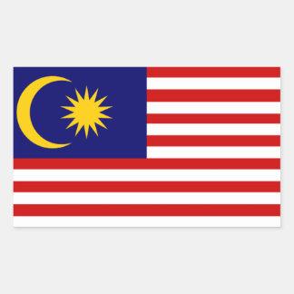 マレーシア: マレーシアの旗 長方形シール