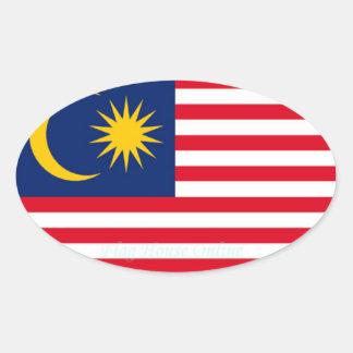 マレーシア-ヨーロッパスタイルの楕円形のステッカー 楕円形シール
